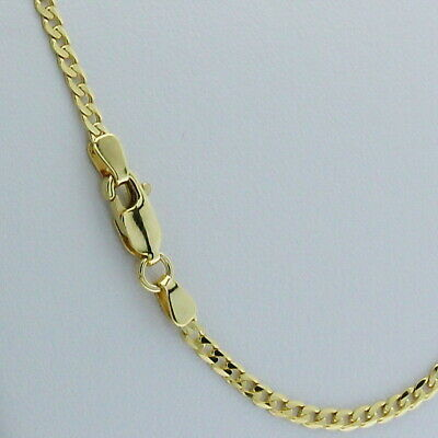 AU349 • Buy Genuine Brand New 9K Solid Yellow Gold Italian Curb Chain Necklace 45cm - 80cm
