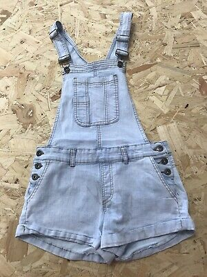 Girls Dungarees Shorts Age 12 To 13 Years Seduction Denim Blue Denim B732 • 7.99£