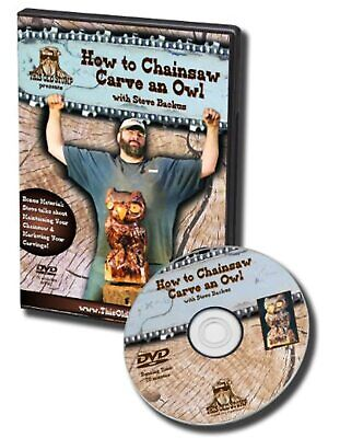How To Chainsaw Carve An Owl On DVD With Steve Backus Very Good E62 • 17.90£