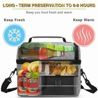 AU18.59 • Buy Insulated Lunch Bag For Women Men Kids Thermos Cooler Adults Tote Food Lunch Box