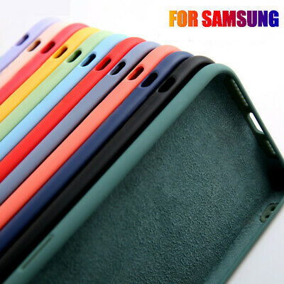 $ CDN3.81 • Buy Silicone Liquid Soft Shockproof Case Cover For Samsung Galaxy S20 S10 S9 S8 Plus