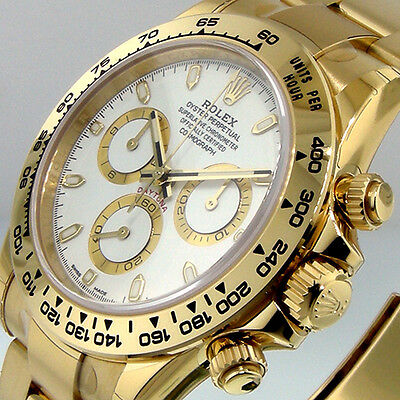 $ CDN52063.03 • Buy ROLEX DAYTONA 116508 YELLOW GOLD WHITE DIAL 18K OYSTER BRACELET 40 Mm 116508