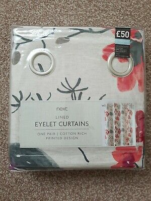 Next Lined Eyelet Curtains 53  54  • 16£