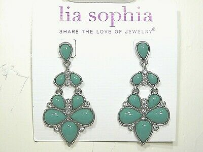 $ CDN11.66 • Buy Beautiful Lia Sophia  HUNTRESS  Statement Dangle Earrings, Cut Crystals, NWT