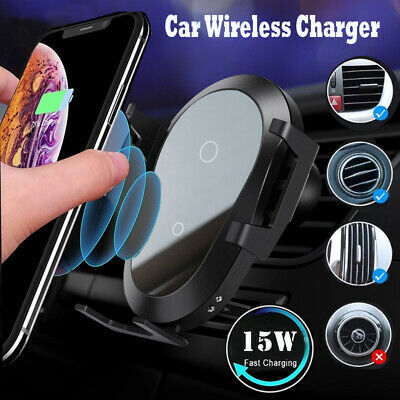 $ CDN12.59 • Buy Qi Automatic Clamping Wireless Car Fast Charger For Samsung Note20 S20 S21 Ultra
