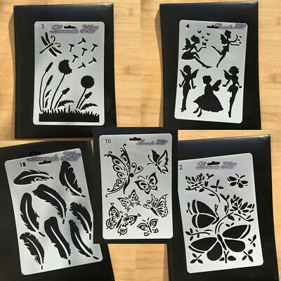 £2.99 • Buy Fairy Butterfly Magical Card Making Stencils Templates Paint Drawing Scrapbook