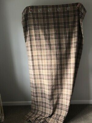 Next Checked Eyelet Curtains 135 X 229 Cm • 11.56£