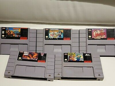 $ CDN124.99 • Buy Lot Of 5 SNES Games (Super Nintendo) - Mario All Stars, Donkey Kong Country 3