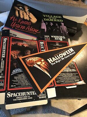 $ CDN55.49 • Buy Lot Of Vintage Video Store Display Mobile Oversized Vhs Box Big Halloween Horror
