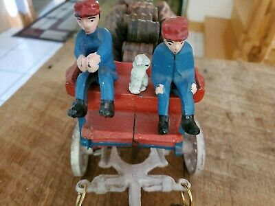 $ CDN215.06 • Buy Vintage Cast Iron Beer Wagon 8 CLYDESDALE HORSES Drivers Dog, Kegs Budweiser
