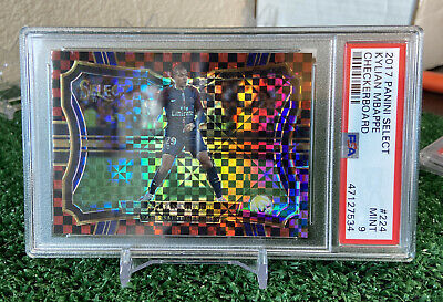 $ CDN249.74 • Buy 2017-18 Panini Select Red Checkerboard SP Silver Prizm #224 Kylian Mbappe PSA 9