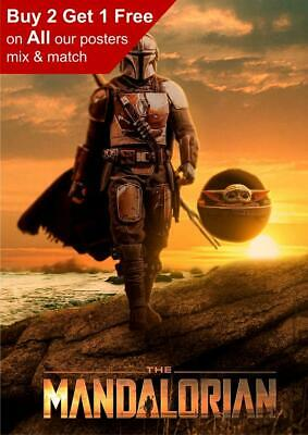 £3.99 • Buy Star Wars The Mandalorian And Baby Poster A5 A4 A3 A2 A1