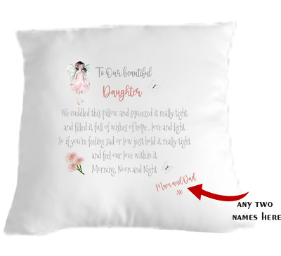 Daughter Cuddle Cushion Pillow Gift Idea Sending Love Personalised • 9.99£