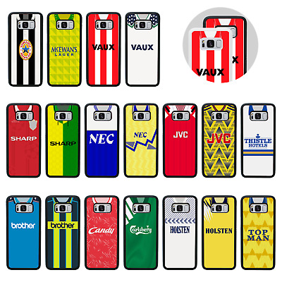 £6.95 • Buy RETRO FOOTBALL SHIRT | Protective Rubber Bumper Case Cover For Galaxy S8 S9 PLUS