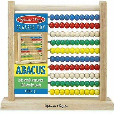 Melissa & Doug Abacus Classic Wooden Toy - Numbers & Counting - Ages 3 Years + • 13.31£