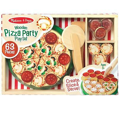 Melissa & Doug Children's Wooden Pizza Party Play Set, Toy Food, Age 3 Years + • 15.54£