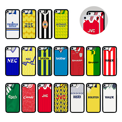 RETRO FOOTBALL SHIRTS   Protective Rubber Case For IPhone 8 PLUS XR X XS Max • 9.99£