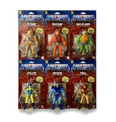 $150 • Buy Masters Of The Universe 2020 Retro Set Of 6 (He-Man + 5 Figures) MATELL MOTU NEW