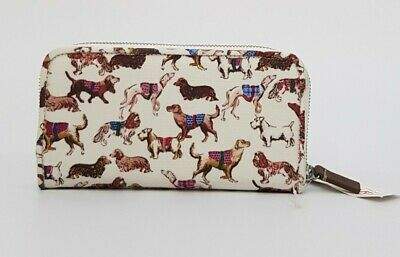 Cath Kidston Zip Wallet Mini Sketchbook Dog Oyester Shell Colour New With Tag • 22£