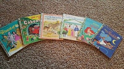 £4.26 • Buy Lot Of 6 Little Golden Vintage Walt Disney Classic Kids Books MIX