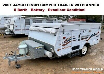 AU10990 • Buy 2001 Jayco Finch 5 Berth Camper Trailer With Annex And Battery. Sydney