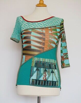 AU49.48 • Buy Save The Queen Multicolored Asymmetric Top, Size:L