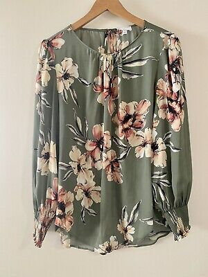 AU31 • Buy Witchery Floral Print Long Sleeve Top - Size 10