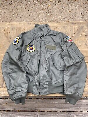 $ CDN151.76 • Buy USAF Men's Summer Flyers Jacket CWU-36/P Large (42-44) Sage Green With Patches