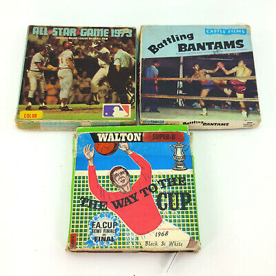 $ CDN93.67 • Buy Lot 3 Super 8mm Sports Events Films Movies Vintage 60s 70s MLB All Star FA Cup