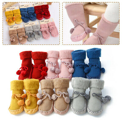 Baby Non-slip Soft Socks Toddler Crawling Slippers Socks Cotton Baby Bed Shoes • 4.22£