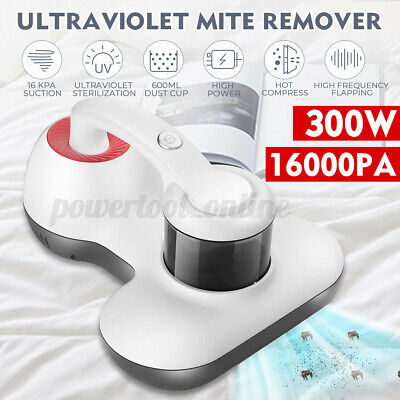 Handheld Vacuum UV Anti Dust Mite Hand Held Bed Vac Cleaner Tool AC 220V 300W • 38.77£