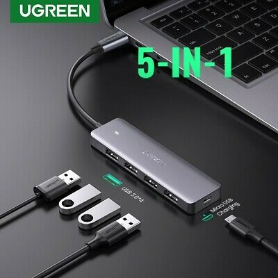 AU29.95 • Buy Ugreen USB C 5 In 1 Hub Type 3.1 To USB 3.0 Port 5 Gbps Adapter Data Laptop Mac