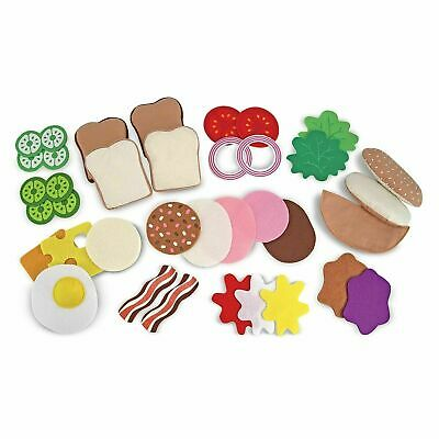 Melissa & Doug Sandwich Food Set - Felt - Pretend Play - For Kids Ages 3 Years + • 14.80£
