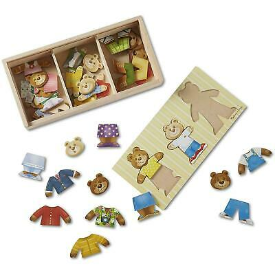 Melissa & Doug Bear Family Dress-Up Wooden Puzzle, 45 Mix And Match Pieces - 3+ • 11.97£