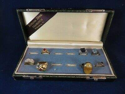 $ CDN21.12 • Buy VTG Sterling Silver - Lot Of 7 Assrtd Rings Plus Jewelry Box 4 Sterling, 3 Metal