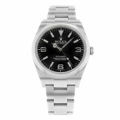 $ CDN9649.89 • Buy Rolex Explorer I Steel Pre-Lume Black Dial Automatic Mens Watch 214270