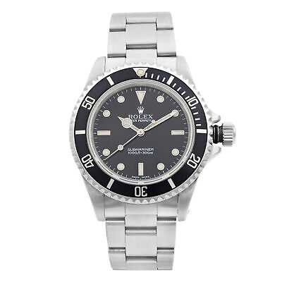 $ CDN10025.91 • Buy Rolex Submariner No Date Stainless Steel Black Dial Automatic Mens Watch 14060