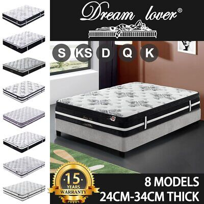AU219 • Buy Mattress Queen Double King Single Bed Memory Foam Pocket Spring Euro TOP