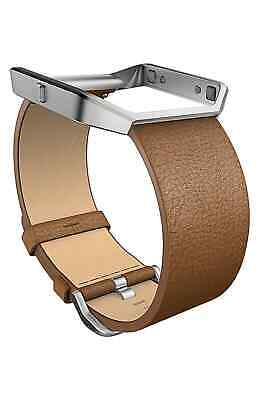 AU26.08 • Buy Fitbit Men's Blaze Leather Accessory Band Brown Large
