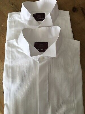 £15 • Buy M&S- Two Sartorial Formal Shirts Collar Size 181/2 Inch. Classic Fit.
