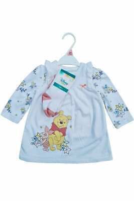 Disney Baby Nutmeg Girls Winnie The Pooh Piglet Floral Dress Tights Outfit  Set • 8.24£
