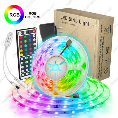 $4.24 • Buy 16.4ft RGB LED Light Strip 5050 LED Tape Lights With Remote And Control Box