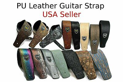 $ CDN15.17 • Buy Guitar Strap Leather PU Plastic Adjustable Acoustic Electric Bass Skin Sparkle