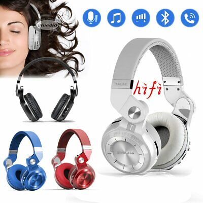 AU28.39 • Buy Bluedio T2S Wireless Headphones Bluetooth 4.1 Stereo Headsets With Mic