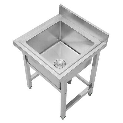 Stainless Steel Commercial Catering Kitchen Wash Table Deep Pot Sink Large Bowl • 185.95£