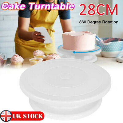 £6.99 • Buy 28cm Rotating Cake Icing Deocrating Revolving Kitchen Display Stand Turntable