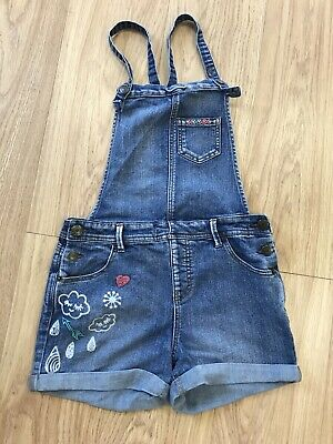 "Girls Dungarees Shorts Age 12-13 Years (28"" Waist) Cat & Jack Blue IN 49 • 9.99£"