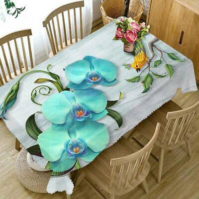 £4.79 • Buy Butterfly Orchid Embroidered Tablecloth Flower Coffee Table Cover Cloth Decor TO