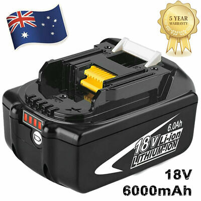 AU49.99 • Buy 18V 6.0Ah REPLACE BL1860B BATTERY LXT LITHIUM-ION FOR Makita BL1850B LED Tools