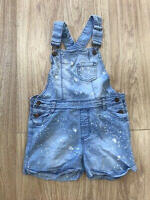 "Girls Dungarees Shorts Age 12-13 (28"" Waist) Blue IN56 • 8.99£"